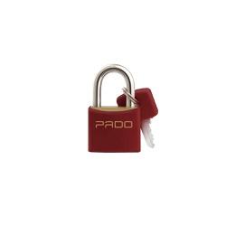 Cadeado Cores Vermelho 25mm - LT-25 - PADO - Ritec Máquinas e Ferramentas