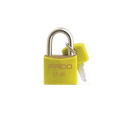 Cadeado Cores Amarelo 25mm - LT-25 - PADO - Ritec Máquinas e Ferramentas