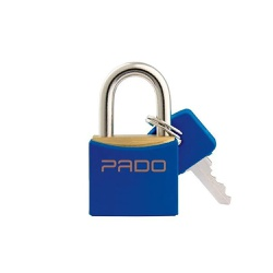 Cadeado Cores Azul 40mm - LT-40 - PADO - Ritec Máquinas e Ferramentas