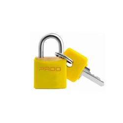 Cadeado Cores Amarelo 20mm - LT-20 - PADO - Ritec Máquinas e Ferramentas
