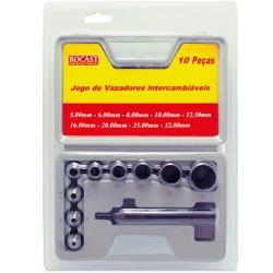 Jogo de Vazadores Intercambiáveis 10 peças 5,0 a 32,0mm 59,0... - Ritec Máquinas e Ferramentas