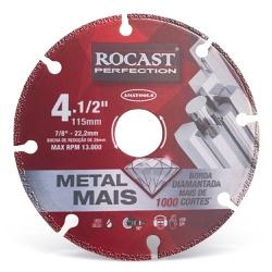 Disco de Corte Diamantado Metal Mais 115mm 412,0001 ROCAST - Ritec Máquinas e Ferramentas