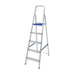 Escada Doméstica Alumínio 5 Degraus - MOR - Ritec Máquinas e Ferramentas