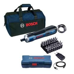 Kit Parafusadeira BOSCH GO (33 acessórios) + Bolsa de Transp... - Ritec Máquinas e Ferramentas