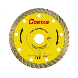 Disco de Corte Diamantado Porcelanato Flex 115mm - CORTAG - Ritec Máquinas e Ferramentas