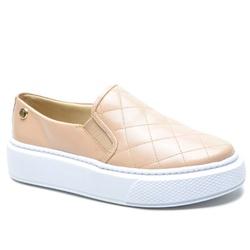 Sapato Slip On em Couro Nude Matelasse - 5010 - ROTA SHOES