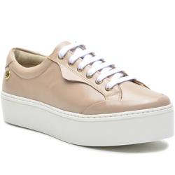 Sapato Slip On em Couro Cadarço Casual Nude - 9012... - ROTA SHOES