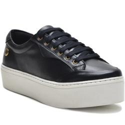 Sapato Slip On em Couro Cadarço Casual Preto - 901... - ROTA SHOES