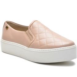 Sapato Slip On em Couro Nude Matelasse - 9010-ND - ROTA SHOES