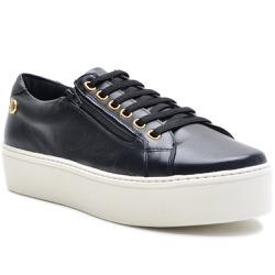 Sapato Slip On em Couro Preto com zíper - 9013-PT - ROTA SHOES