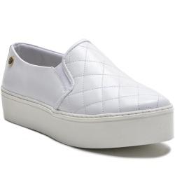 Sapato Slip On em Couro Branco Ana Flex - 9010-BR - ROTA SHOES