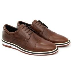 Sapato Masculino Oxford Esporte Fino Alpha em Cour... - ROTA SHOES