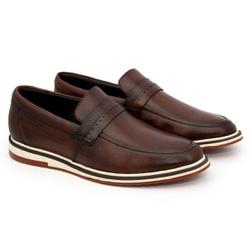 Sapato Masculino Loafer Esporte Fino Alpha em Cour... - ROTA SHOES