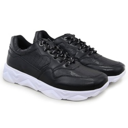 Tênis Chunky Sneaker Masculino Tracker Em Couro Bl... - ROTA SHOES