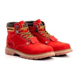 Bota Masculina Tratorada Jhon Boots Vermelha - 850 - ROTA SHOES