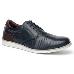 Sapato Casual Oxford Masculino Confortável Marinho... - ROTA SHOES