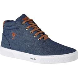 Tênis Cano Alto Polo Joy - Azul Jeans - ROTA SHOES