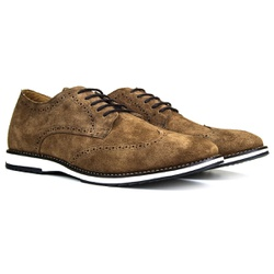 Sapato Masculino Oxford Inglês Couro Legítimo Cast... - ROTA SHOES