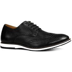 Sapato Masculino Oxford Inglês Couro Legítimo Pret... - ROTA SHOES