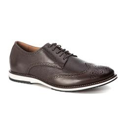 Sapato Masculino Oxford Inglês Couro Legítimo Café... - ROTA SHOES