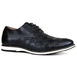 Sapato Masculino Oxford Brogue Couro Legítimo Xadr... - ROTA SHOES