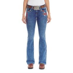 Calça Tassa Country Feminina Boot Cut Medium Wash