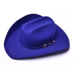 -Chapéu Country Pralana Bareback Azul,100% Feltro ,Tamanho da Aba - 10 cm,Tamanho da Copa - 10,5 c,Chapéu sem Forro ,Carneira em Recouro