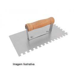 Desempenadeira de Aço Dentada Reforçada 10 x 25 cm 3016 Fert... - Santec