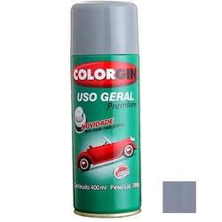 Tinta Spray Cinza Placa Brilhante 400ml 55041 Uso Geral Prem... - Santec
