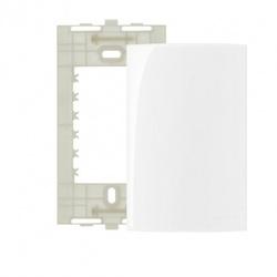 Placa 4x2 Cega Branco Linha Sleek Margirius - Santec