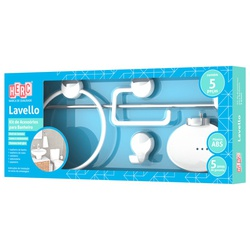 Kit Acessórios Para Banheiro 5 Peças Lavello Branco 4090 Her... - Santec