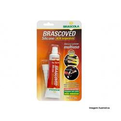 Adesivo Silicone Vermelho 50gr Brascoved Brascola - Santec
