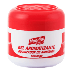 Aromatizante em Gel Morango 60gr Mundial Prime - Santec