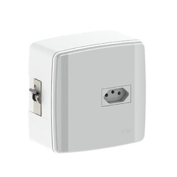 Caixa Para 1 Disjuntor Com Tomada De 20A 620631 Ilumi - Santec
