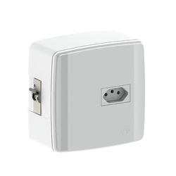 Caixa Para 2 Disjuntores Com Tomada De 20A 620632 Ilumi - Santec
