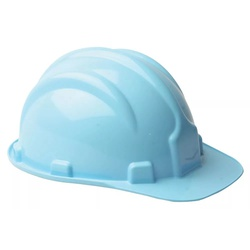 Capacete De Segurança Azul Claro Modelo Plt Plastcor - Santec