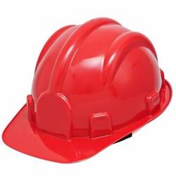 Capacete De Segurança Vermelho Modelo Plt Plastcor - Santec