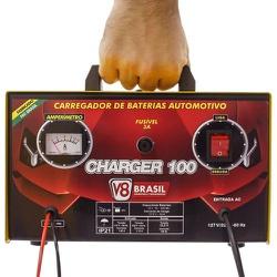 Carregador De Bateria 10A Charger 100 Bivolt V-8 Brasil - Santec