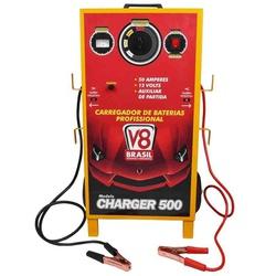 Carregador De Bateria Charger 500E 50A Bivolt V-8 Brasil - Santec