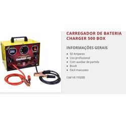 Carregador De Bateria Charger 500 Box 50A Bivolt V-8 Brasil - Santec