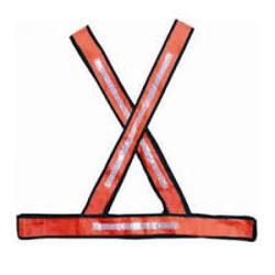 Colete Refletivo X Laranja E Branco - Santec