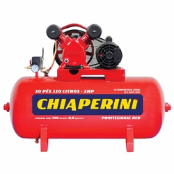 Compressor De Ar Red 10 Pcm 110 Litros C/ Motor 2Hp Trifásic... - Santec