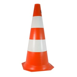 Cone De Sinalização 50 cmt Laranja E Branco - Santec