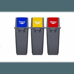 Conjunto De Lixeira Seletiva 60 Litros Sp93860 Superpro - Santec