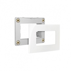 Conjunto Placa + Suporte Para Móvel Branco Linha Sleek Margi... - Santec