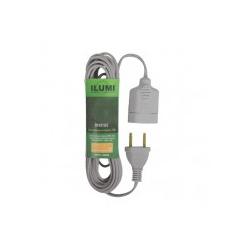 Cordão Prolongador C/ 3 Metros Cinza 16810 Ilumi - Santec