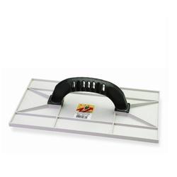 Desempenadeira Plástica Branca 15 X 26cm Textura/Grafiato - Santec