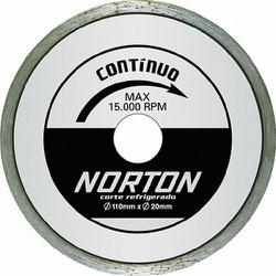 Disco De Corte Diamantado Contínuo Pro 110 X 20mm Norton - Santec