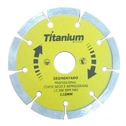 Disco De Corte Segmentado 110 X 22,2mm Ref-5062 Titaniun - Santec