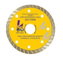 Disco De Corte Diamantado Turbo 110 X 20mm Ref-5822 Lotus - Santec